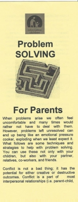 <h5>PROBLEM SOLVING FOR PARENTS</h5><p>Techniques and strategies to help with problem solving.</p>